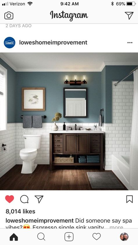 Subway tile. Toilet Location In Bathroom    Small Bathrooms Ideas    Bathroom Tile Ideas Pictures   Small Bathroom Ideas On A Budget. #decoracion #Bathroom ideas. Check out this great article.