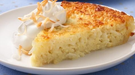 Ingredients 1 cup flaked or shredded coconut 3/4 cup sugar 1/2 cup Original Bisquick® mix 1/4 cup butter or margarine, softened 2 cups milk...