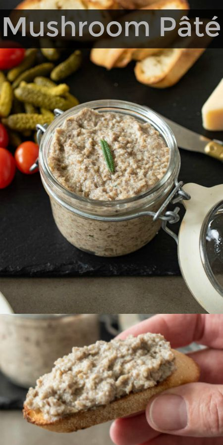 This Mushroom Pate Is Packed With Savory Flavor And Surprisingly Easy To Make This Vegan An Vegan Appetizers Vegan Mushroom Pate Recipe Food Processor Recipes