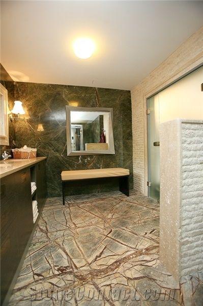 rain forest green marble bathroom floor