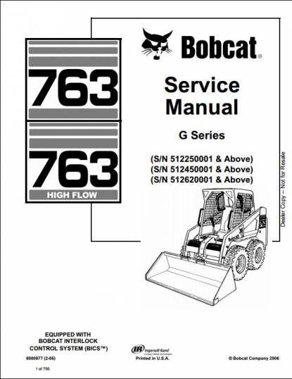 17 Bobcat 763 Wiring Diagram Repair Manuals Skid Steer Loader Bobcat