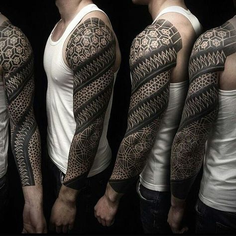 Pin By Jason P Crisp On Daimnn Geometric Sleeve Tattoo Tattoos Full Sleeve Tattoos