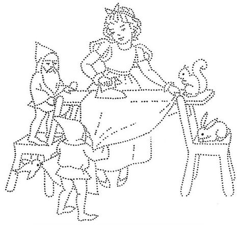 Vintage Pattern ~ Snow White Days of the Week DOW Embroidery
