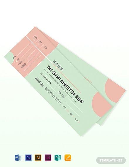 Free Printable Concert Ticket Concert Ticket Template Ticket