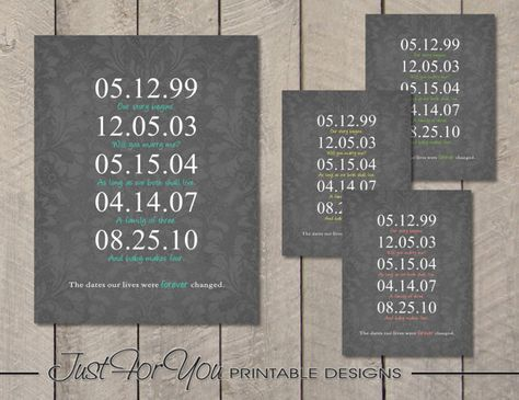 Mothers Day  Family  Special Dates  Custom  by 4UPrintableDesigns, $14.00