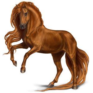 Darling Dream, Pferd Holsteiner Fuchs mit heller Mähne #116 - Howrse