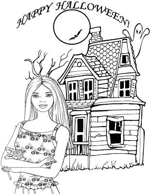 Barbie Coloring Pages Happy Halloween Barbie Printable Coloring Page Halloween Coloring Pages Barbie Coloring Pages Halloween Coloring
