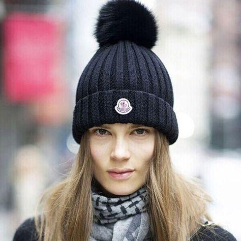 Bonnet Femme avec D/étachable Pompon Chapeau Laine Tricot/é /Épais Beanie Raton Laveur Chaud de Ski Snowboard Chapeau De Plein air Automne et Hiver