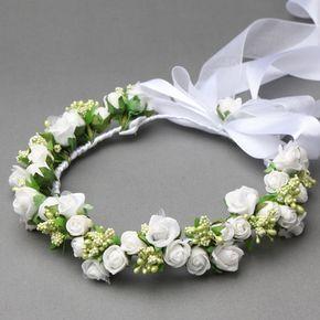 Wianek Komunijny Kalina Kolczyki Gratis Flower Hair Accessories Floral Hair Wreath Flower Girl Headpiece