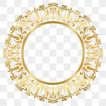 Classic Frame Decorative Gold Ornamnet Circle Royal Background Vector Png Transparent Clipart Image And Psd File For Free Download In 2020 Classic Frame Gold Frame Frame
