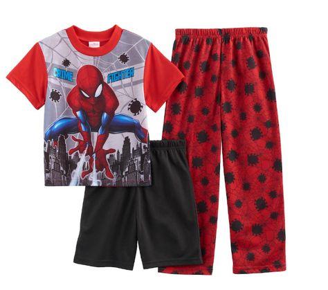 Pants Pyjamas Sleepwear Set Kids Toddler Boys Superhero Short//Long Sleeve Tops