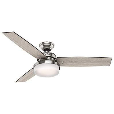 Hunter 59157 Sentinel 52 Ceiling Fan With Light With Handheld