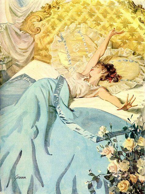 Pin up Sleepytime Retro Kunst, Retro Art, Posters Vintage, Vintage Art, Vintage Humor, Art Pop, Art Brut, Pulp Art, Pin Up Art
