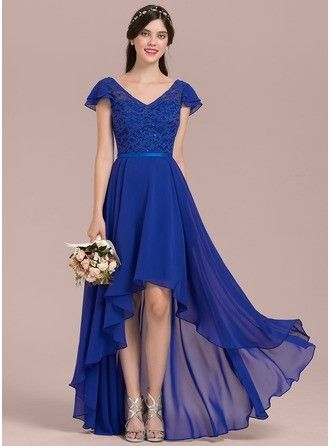cfdcba1a6b Find More Information about High Low Royal Blue Bridesmaid Dress ...