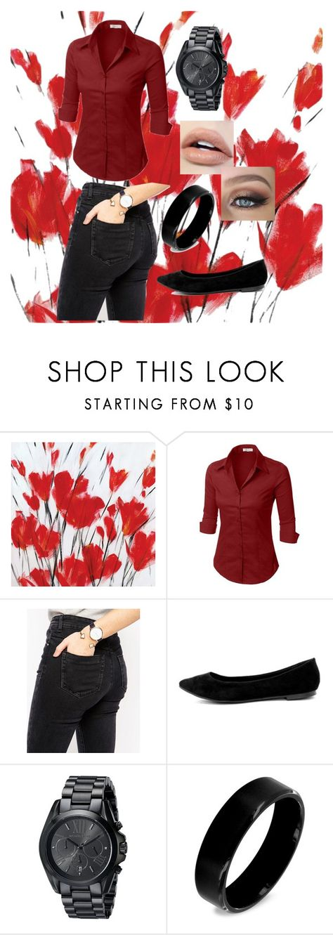 """""""No Title 17"""" by emily102901 ❤ liked on Polyvore featuring LE3NO, ASOS, Breckelle's, Michael Kors and West Coast Jewelry"""