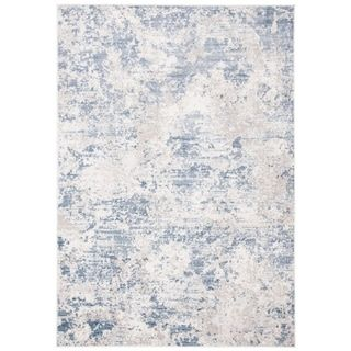 Contemporary Abstract Grey Blue Rug