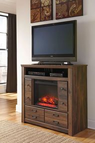 Get Your Quinden Media Chest W Fireplace Option At Furniture Warehouse Il Champaign