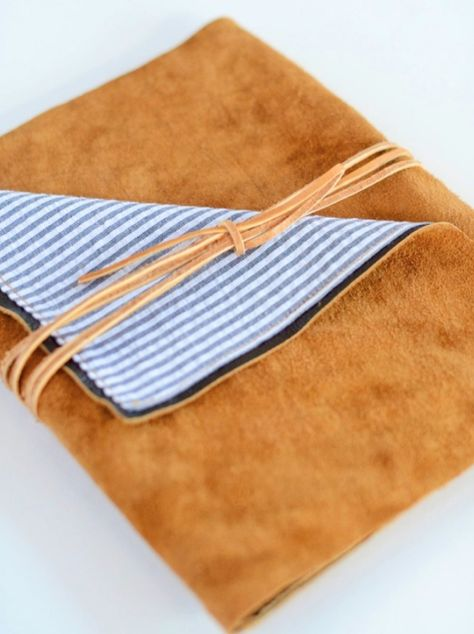 Make this suede iPad case (or case for anything!) Tutorial.  AND 45 BEST Weekend Lifestyle DIY Tutorials EVER. DECOR, FURNITURE, JEWELRY, FOOD, WHIMSEY, PARTY from MrsPollyRogers.com