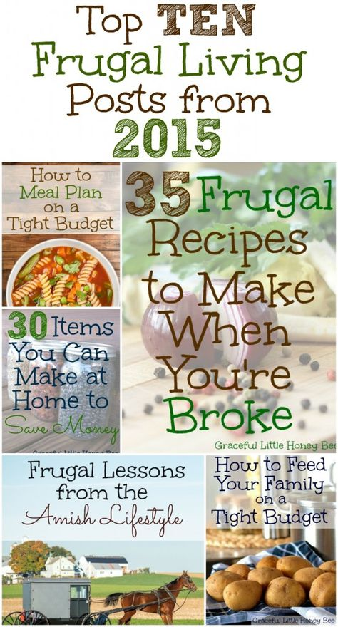 Top 10 Frugal Living Posts from 2015