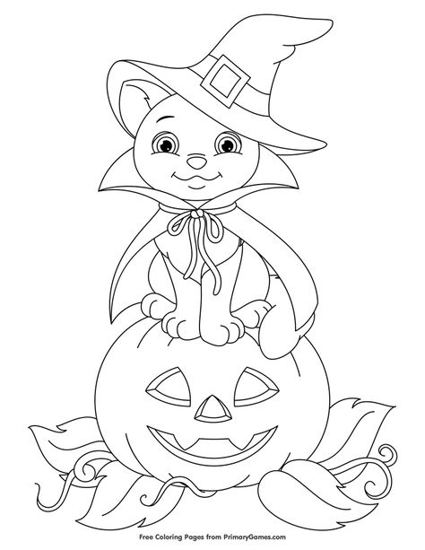 Free printable Halloween coloring pages for use in your classroom and home from PrimaryGames. Free printable online Halloween Coloring Pages eBook for use in your classroom or home from PrimaryGames. Print and color this Cute Bat on Pumpkin coloring page. Halloween Coloring Pages Printable, Bat Coloring Pages, Halloween Coloring Sheets, Pumpkin Coloring Pages, Coloring Pages For Girls, Disney Coloring Pages, Free Printable Coloring Pages, Coloring For Kids, Coloring Books