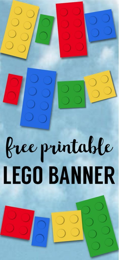 picture regarding Lego Party Printable called Lego Banner Lego Get together Printables Printables Lego