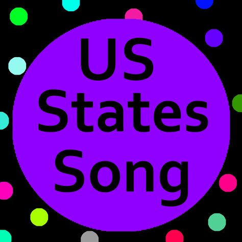 US States song with lyrics helps kids learn the 50 States in order of induction.