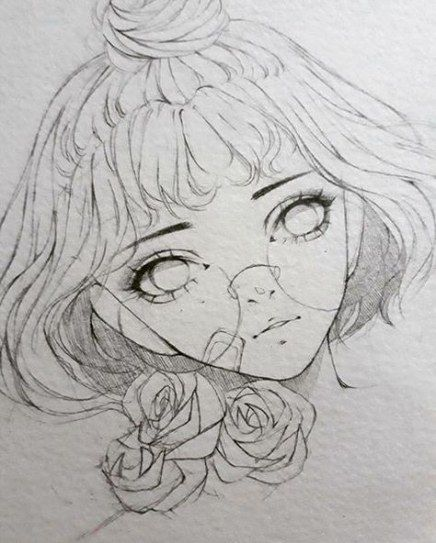 18 Best Ideas For Flowers Drawing Pencil Girls Anime Drawings Sketches Cool Drawings Art Sketches