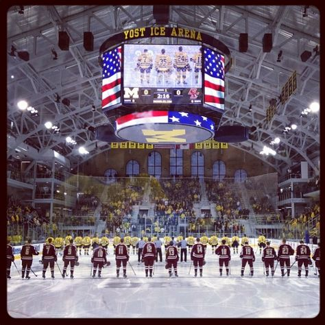 Yost Ice Arena is a great place to chill out and GO BLUE!