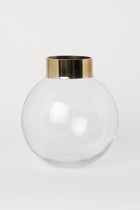 مزهرية دائرية من الزجاج Round Glass Vase Glass Vase Glass