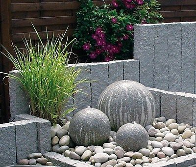 details zu kugelbrunnen granit 40 cm quellkugel springbrunnen, Terrassen ideen