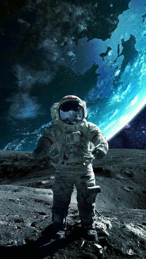 Pin By Tim Fielding On Space Paper 9x16 Iphone Wallpaper Astronaut Astronaut Wallpaper Space Artwork