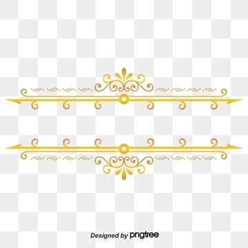 Gold Dividing Line Simple Dividing Line Gold Lace Gold Pattern Png Transparent Clipart Image And Psd File For Free Download Gold Pattern Clip Art Decorative Lines