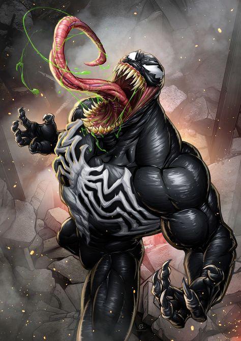Venom Digital Art Character Drawings Games Movies & TV Paintings & Airbrushing Venom Villain