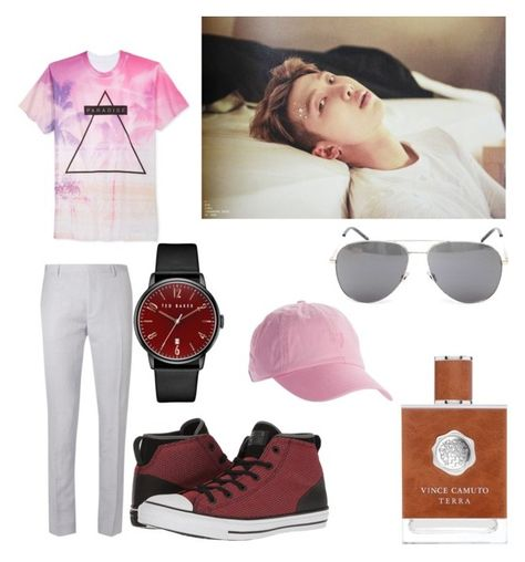 """""""Bangtan: Rap Monster"""" by rockthearmy ❤ liked on Polyvore featuring Univibe, Paul Smith, Ted Baker, Converse, Yves Saint Laurent, Vince Camuto, Aéropostale, men's fashion and menswear"""