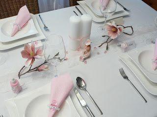Tischdeko zur Taufe. Taufdeko auf Mustertische von Tischdeko