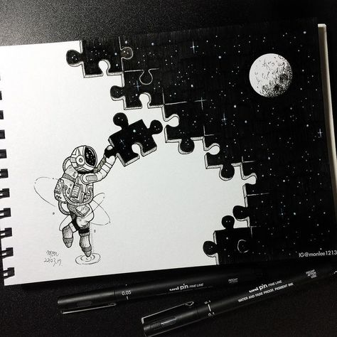 Puzzle 👀 My little astronaut is so busy - #Astronaut #busy #Logo #Puzzle