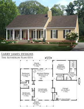 The Sutherlin House Plan Designer Larry James Craftsman House Plans House Blueprints House Plans