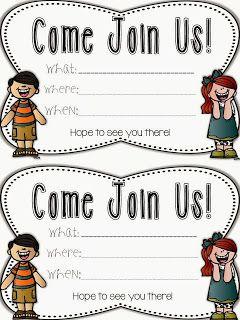 school open house invitations templates
