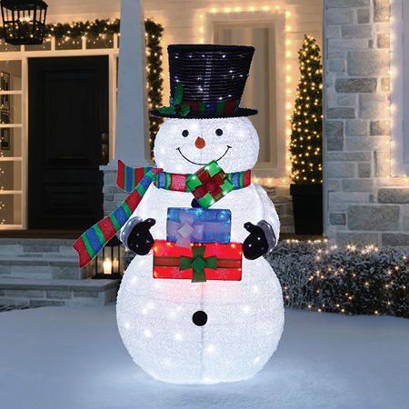 Pre Lit Nativity Scene, Outdoor Light Up Snowman Costco