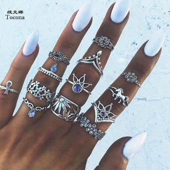 Aliexpress Antique Silver Rings Ring Sets Boho Knuckle Rings