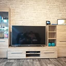 Bmg Mobel Wohnwand Wohnzimmerschrank Schrankwand Tv Element Anbauwand Cannes In Eiche Sonoma Made In Germany Amaz In 2020 Wohnzimmerschranke Schrankwand Anbauwand