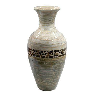 World Menagerie Roby Bamboo Floor Vase Vase Vases Decor Vase Shapes