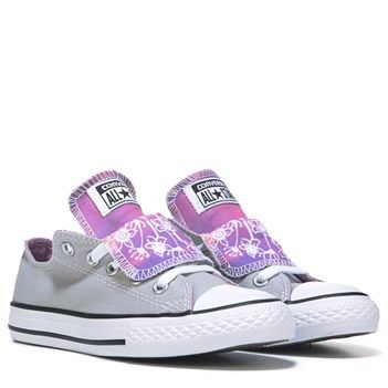 Converse Chuck Taylor All Star Double Tongue Low Top Sneaker Grey/Pink
