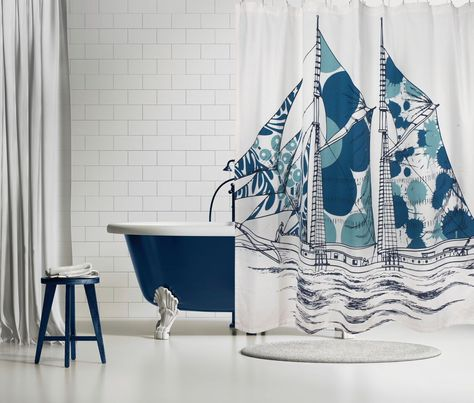Dazzle Ship Shower Curtain Design By Thomas Paul Curtains