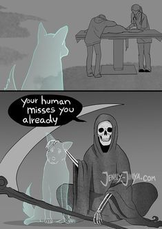 Artist Who Made People Cry With Her Grim Reaper Animal Comics Is Back, And This Time It's About Seeing Your Dog Being Put To Sleep | Bored Panda