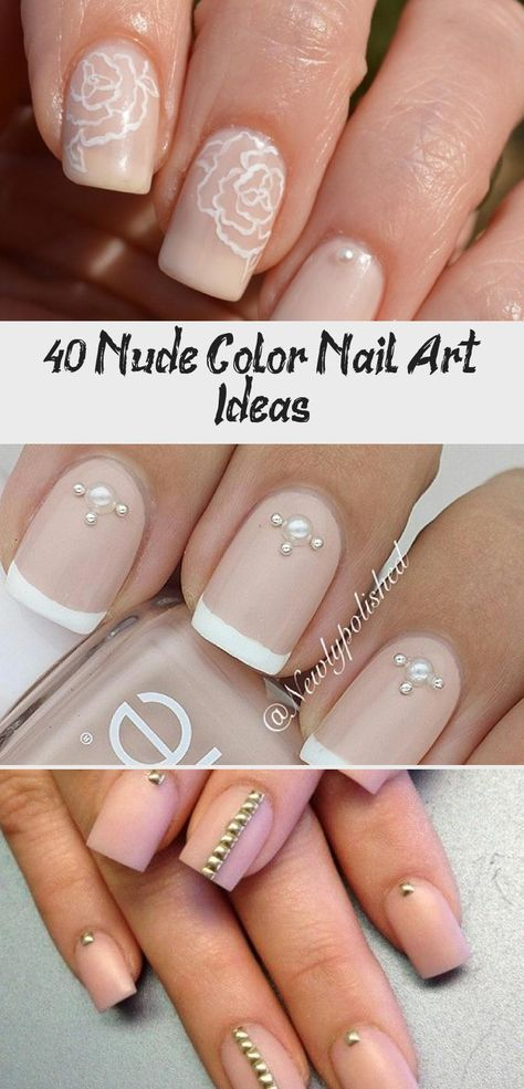 Floral inspired nude nail art. Give life to your nude nails by adding white polish on the tips with flower details on them #nudenails #nailideas #nails #cutenailSns #cutenailPink #cutenailGrey #cutenailAlmond #cutenailForTheBeach