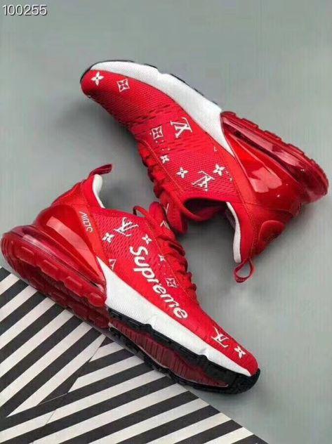 """Nike Air Max 270 """"Supreme x Louis Vuitton"""" Custom   67   Обувь ... c47d1459755"""