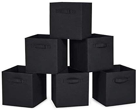 Amazon Com Maidmax Cloth Storage Cubes Bins With Dual Handles For Home Closet Nursery Drawers Organizer Fo Collapsible Storage Bins Storage Bins Cube Storage
