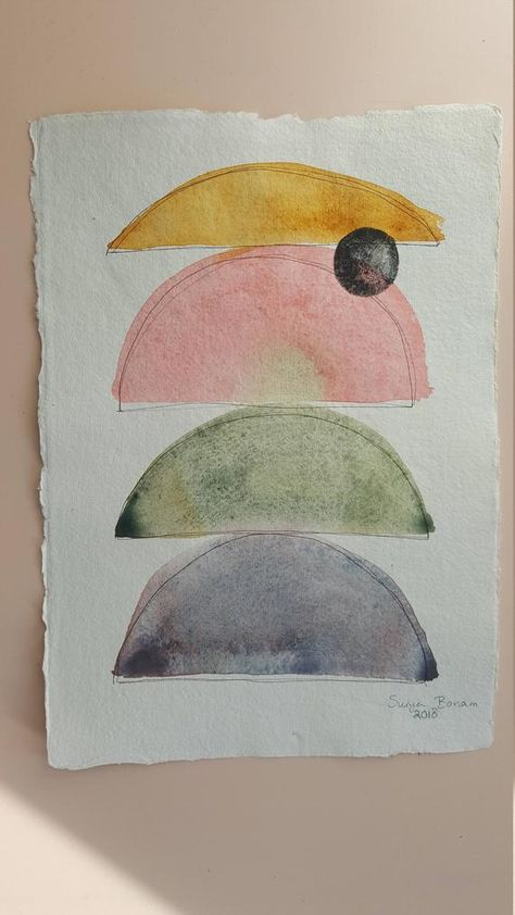 This Is An Original Abstract Watercolor Painting Made With