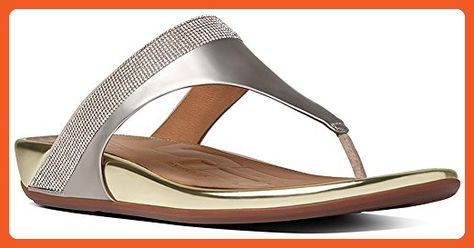 53f997805ef689 FitFlop Women s Banda Micro Crystal Toe Post Flip Flop